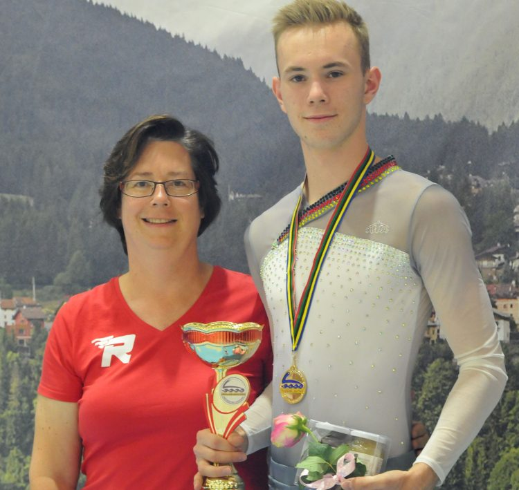 EM2017 Gewinner Aaron Wunder u Trainerin Carola Wunder