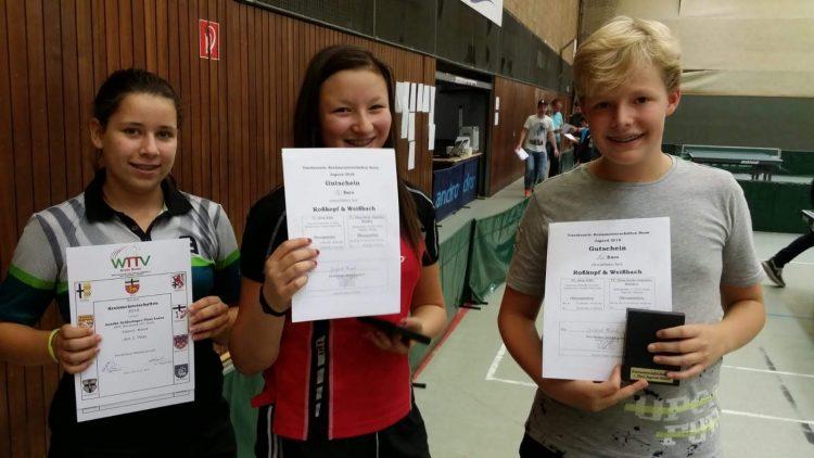 Mixed-Sieger: Katharina(Mitte) und Simon(rechts)